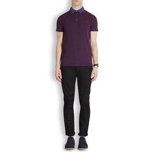 NWT Hugo Boss Purple Phelon Plum Piqué Polo Shirt